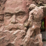 ������, ������: Karl Marx Stone Statue Chongqing Sichuan China