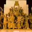 Mao Statue View of Heroes Zhongshan Square, Shenyang, China at N — Stock Photo
