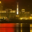 Old Weather Station Reflection Shanghai Bund at Night — Stock Photo