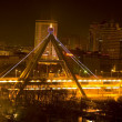Stock Photo: Night Shot Bridge Xining City Qinghai Province China