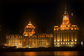 Shanghai Bund at Night Close Up — Stock Photo