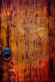 Old Carved Wooden Door Jinli Street Sichuan China — Stock Photo