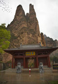 Entrance to Binglin Si Bright Spirit Buddhist Temple Lanzhou Gan — ストック写真