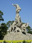 Five Goat Statue Yue Xiu Park Guangzhou — Stock Photo