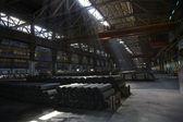 Light Shafts Inside Dark Metals Factory Gansu Province China — Stock Photo