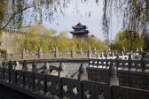 City Wall and Tower, Qufu, Shandong Province, China — Foto de Stock