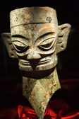 Bronze Three Thousand Year Old Mask Statue Sanxingdui Museum Che — Stock Photo