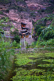 Binglin Si Bright Spirit Buddhist Temple Garden Lanzhou Gansu Ch — Stock Photo