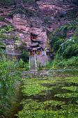 Binglin si světlé spirit buddhistický chrám zahradní lanzhou gansu ch — Stock fotografie