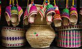 Paja artesanías jinli calle chengdu sichuan, china — Foto de Stock