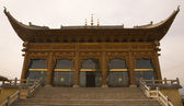 Ornate Wooden Mosque Lanzhou Gansu Province China — Stock Photo