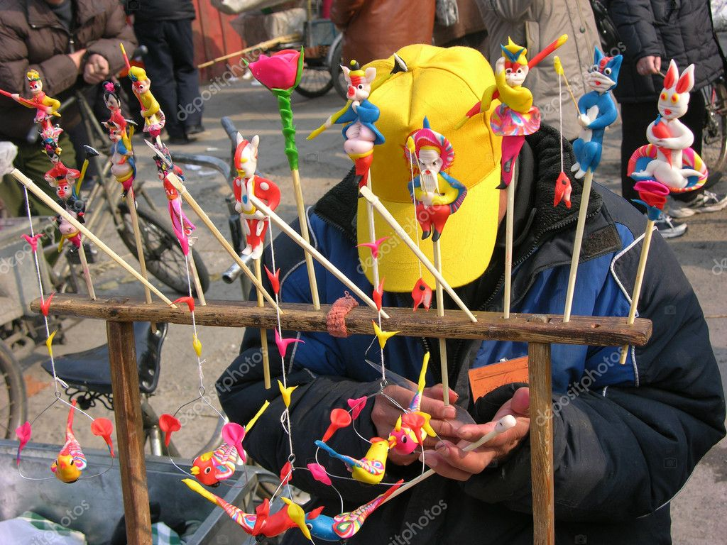 Toys For Chinese New Year : Carving traditional chinese toys lunar new year — stock
