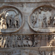 Royalty-Free Stock Photo: Details Arch of Constantine Rome Italy