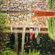 Boat Reflection Garden of the Humble Administrator Suzhou China — Stock Photo