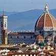 Duomo Cathedral Basilica Giotto Bell Tower Florence Italy - Stock Photo