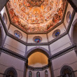 Overview Duomo Cathedral Basilica Vasari Fresco Dome Florence It - Stock Photo