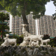 Stock Photo: Goat Statue Wong Tai Sin Buddhist Taoist Temple Kowloon Hong Kon
