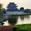 Постер, плакат: Hall Four Auspicious Merits Pan Men Scenic Area Suzhou China