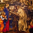Virgin Appearing to St. Bernard Lippi Painting Badia Florentina — Stock Photo