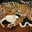 Stock Photo: RomMosaic Tiger Hunting Capitoline Museum Rome Italy