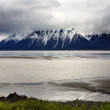 océan montagne neige seward highway anchorage en alaska — Photo