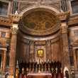 Altar Gold Icon Pantheon Rome Italy — Stock Photo