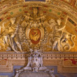Papal Symbol Statues Vatican Museum Inside Map Room Ceiling Deta — Stock Photo #6078172