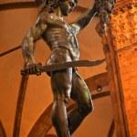 Cellini Perseus Statue Palazzo Vecchio Florence Italy — Stock Photo #6078179