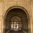 Mughal Designs on Interior Red Fort, Delhi, India — Stock Photo