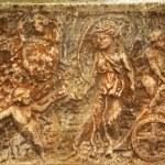 Roman Burial Box Ostia Antica Rome Italy — Stock Photo #6078299