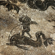 Ancient Roman Cupid Dolphin Mosaic Floor Ostia Antica Rome Italy — Stock Photo