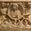 Roman Burial Box Sculpture Capitoline Museum Rome Italy — Stock Photo #6078305
