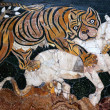 Ancient Roman Mosaic Tiger Hunting Capitoline Museum Rome Italy — Stock Photo #6078316