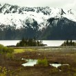 Stock Photo: Snow Mountain Landscape Seward Highway Anchorage Alaska