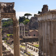 Постер, плакат: Temples of Saturn Forum Rome Italy