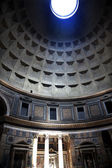 3pm Pantheon Sundial Effect Cupola Ceiling Hole Rome Italy — Stock Photo