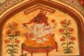 Lord Ganesh Hindu God Mural Jaipur India — Stock Photo