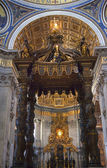 Vatican Inside Bernini's Baldacchino Rome Italy — Stock Photo