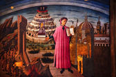 Dante and the Divine Comedy Duomo Cathedral Basilica Florence It — Stock Photo