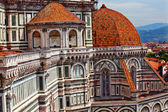 Duomo Cathedral Basilica From Giotto's Bell Tower Florence Italy — Stock Photo