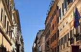 Via del balbuno italia ce bandierine strada romana roma italia — Foto Stock