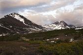Flattop Mountain at Sunset Anchorage Alaska — Stock Photo