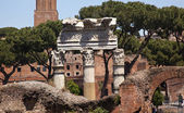 Columns Forum of Julius Ceaser Rome Italy — Stock Photo