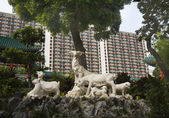 Goat Statue Wong Tai Sin Buddhist Taoist Temple Kowloon Hong Kon — Stock Photo