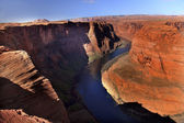 Left Side Horseshoe Bend Glen Canyon Overlook Colorado River Pag — Stock Photo