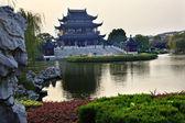 Hall Four Auspicious Merits Pan Men Scenic Area Suzhou China — Stock Photo