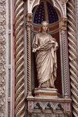 Bazylika katedralna katedry marii statua florencja włochy — Zdjęcie stockowe