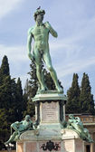Monument to Michelangelo Florence Italy — Stock Photo
