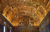 Vatican Museum Inside Map Room Ceiling Details Symbol Rome Italy — Stock Photo