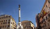 Piazza Mignanelli Colonna Dell Immacoloata Column Spanish Embass — Stock Photo
